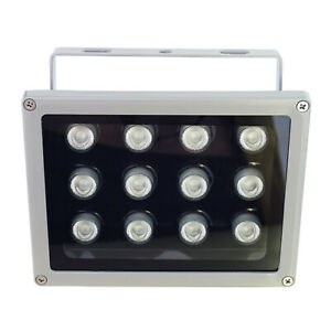 12 Led 850nm 90 Degree Ir Illuminator Infrared Light For Cctv Camera W Adapter