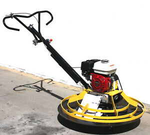 Honda Gx160 Power Trowel Concrete Cement Surface Smooth Finish W 37 Float Plate