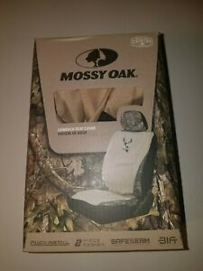 Mossy Oak Break Up Country Khaki Tan Lowback Seat Cover Camo Airbag Safe