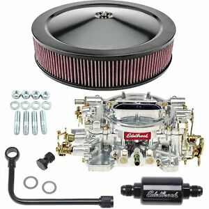 Edelbrock 1404k2 Performer Carburetor Kit Manual Choke Includes 500 Cfm Perform