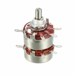Wth118 2k2 Ohm Variable Resistors Double Rotary Carbon Film Taper Potentiometer