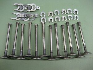 Set 12 Int Exh Mushroom Stem Valves 1941 1947 Ford 226 G Engine Flat Head 6
