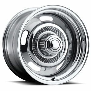 15 Vision 57 Rally Chrome Wheel 15x7 5x4 5 5x4 75 6mm Ford Chevy Buick 5 Lug
