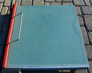 Milton Bradley Wood Iron Guillotine Paper Cutter Extra Large 30 X 30 Large Used