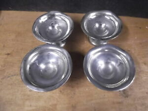 4 Sterling Silver Salt Or Miniature Mint Dishes