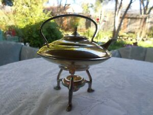 Sale Stunning Vintage Silverplate Tea Pot On Stand With Warmer 10 Tall