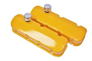 Big Block Chevy Yellow Powder Coat Valve Covers 99 Free Shipping