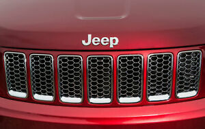 2014 2015 2016 Jeep Grand Cherokee Summit Chrome Grill Grille Genuine Mopar