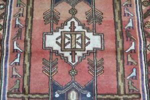3 2 X 4 9 Genuine Semi Antique Persian Tribal Hamadan Hand Knotted Wool Bird Rug