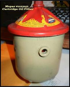 Nos 1934 1950 Plymouth Dodge Oil Filter Cannister 1940 1948 Flathead 6 Mopar Can