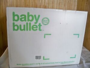 (H)Magic Bullet Baby Bullet Food Making System 20 Piece Set  Used once