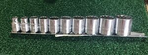 Sk 4670 10pc 3 8 Drive Sae Socket Set Universal Spline Made In The Usa 147
