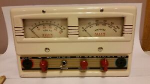 Allen Electric E 1202 Ae 1202 Vintage Volt Amp Tester With Leads And Book