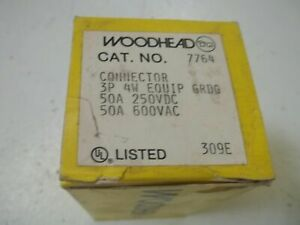 Woodhead 7764 Connector 3 pole 4 wire new In Box