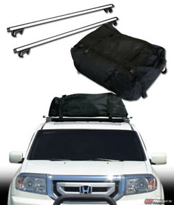 Universal 50 Silver Oval Roof Rail Rack Cross Bar cargo Carrier Bag Luggage G2