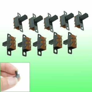 10 Pcs Single Row 3 Terminals 2 Positions Spdt On on Mini Slide Switch