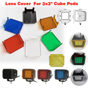 2x Snap On Cover Lens For 3 Inch 12w 16w 18w Led Work Light Bar Offroad Atv Suv