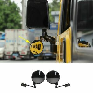 Car Blind Spot Mirror Wide Angle View Side Rearview Mirror For Jeep Wrangler Tj