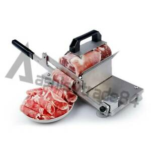 Kitchen Manual Control Meat Slicer Stainless Cutting Beef Mutton Sheet Food