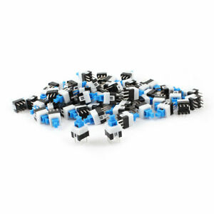 55pcs 6 Pin Square 7mmx7mm Latching Dpdt Mini Push Button Switch
