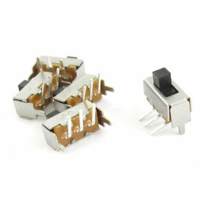 5 Pcs On off 3 Pin Spdt Mini Pcb Slide Switch Replacement Dc 50v 0 3a
