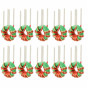 10 Pcs Vertical Toroid Magnetic Inductor Monolayer Wire Wind Wound 220uh Coil