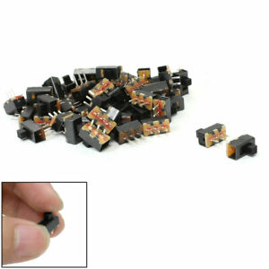 52 Pcs 3 Terminals On on 2 Positions Spdt Panel Pcb Horizontal Mini Slide Switch