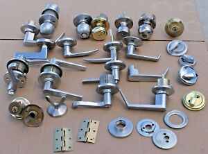 Lot Of Knob Lever Deadbolt Parts Door Hardware Kwikset Schlage Weiser Locksmith