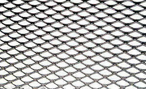 Universal 16 X 48 Aluminum Grille Mesh Sheet Chrome Flat Not Rolled
