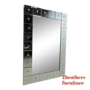 Decorator Button Hanging Dresser Hall Console Wall Mirror