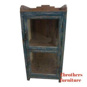 Antique Primitive Architectural Salvage Hutch China Cabinet Cupboard M R