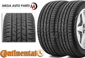 2 New Continental Contiprocontact P215 45r17 87h All Season Performance Tires