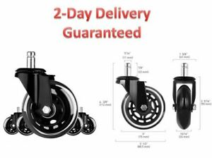 3 Set Of 5 Office Chair Caster Wheels Heavy Duty Safe For All Floors 2 Days