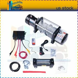 9500lb Electric Off Road Electric Winch Recovery Towing Winch Remote Control 12v