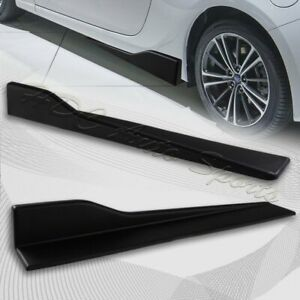 Universal Black Car Side Skirt Rocker Splitters Diffuser Winglet Wind 23 5 X 4