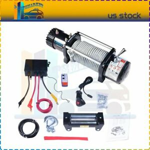 13000lbs Off Road Electric Towing Winch Steel Rope Universal Fit Jeep Truck Suv