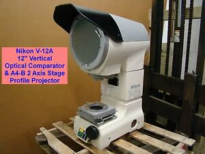 Nikon V 12a 12 Vertical Optical Comparator A4 b 2 Axis Stage Profile Projector