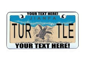 Custom Personalized Chrome Metal License Plate Frame Tag Cover Car Auto Part