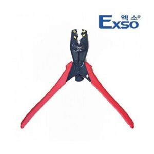 Exso Ect 22 Ratchet Crimping Compressor Press Work Tool Piler Wire Cutter
