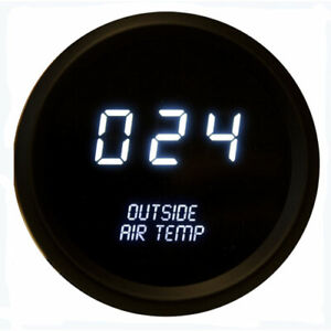 Intellitronix M9123w 2 1 16 Led Digital Outside Air Temperature Gauge 50 To 250