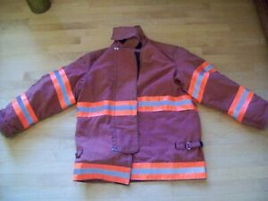 42 X 32 R Firefighter Jacket Coat Bunker Turn Out Gear Janesville Super Clean