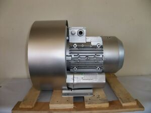 Regenerative Blower 3 4hp 106cfm 168 h2o Press 220 480v 3ph Goorui 003 34 2r4