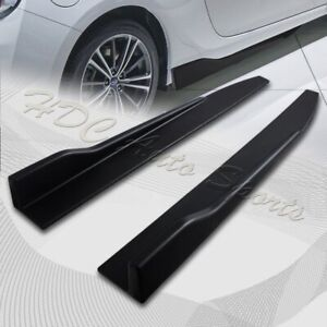 31 X 4 Universal Black Car Side Skirt Rocker Splitters Diffuser Winglet Wind