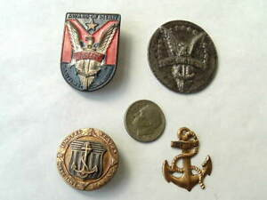 Ww2 Era U S Merchant Marine Hallmarked Sterling Anchor Ships For Victory Lot