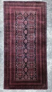 4 X 8 Vintage Handmade Wool Persian Authentic Beautiful Design Rug
