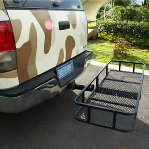 60 Folding Cargo Carrier Hauler Hitch Mounted Receiver Luggage Basket 500 Lbs