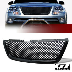 For 2007 2012 Gmc Acadia Black Luxury Mesh Front Hood Bumper Grill Grille Guard