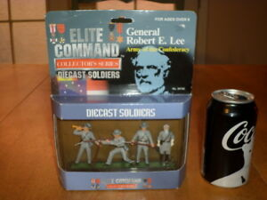 USA CIVIL WAR ARMY CONFEDERACY amp; GENERAL ROBERT E. LEE DIE CAST TOY SOLDIERS $30.00