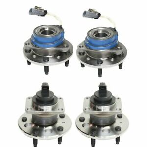 Front Rear Wheel Hub Bearing For 1999 2004 Oldsmobile Alero Fwd 4 Pcs