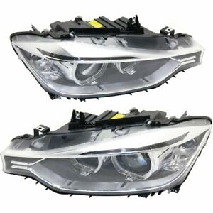 Hid Headlight Set For 2012 2015 Bmw 320i Left Right Pair